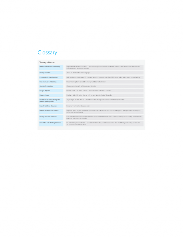 Glossary   Hayle Reason For Closure booklet